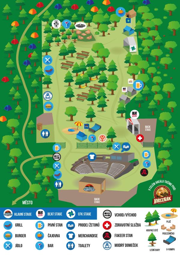 Mapa areálu 2017